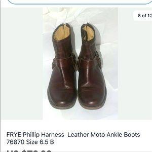 Women's ankle Frye harness boots 6.5